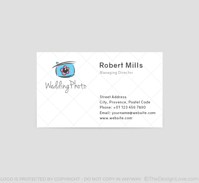 Simple wedding photography logo business card template the simple wedding photography business card template front friedricerecipe Images