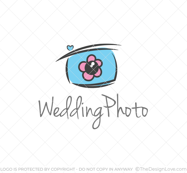 simple wedding photography logo amp business card template