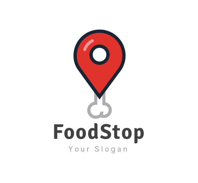 Food stop logo business card template the design love food stop logo wajeb Gallery