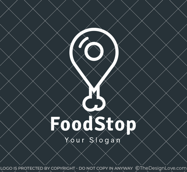 Pre-Designed-Logo-Food-Stop-White