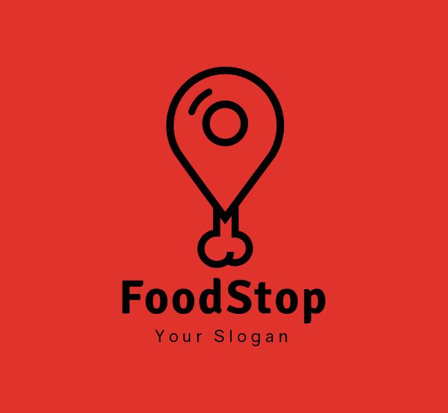 Stock-Logo-Food-Stop-Black