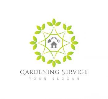Gardening Service Logo & Business Card Template