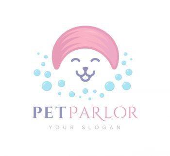 Pet Parlor Logo & Business Card Template