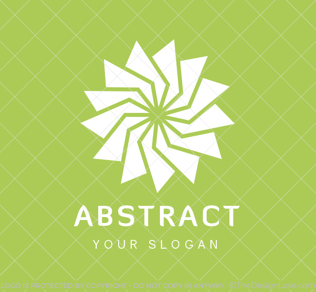 Pre-Designed-Logo-Abstract-Flower-White