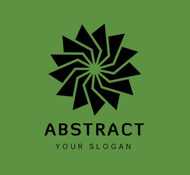 Stock-Logo-Abstract-Flower-Black