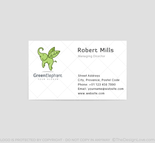 Flying-Elephant-Business-Card-Template-Front