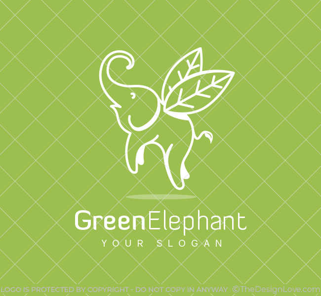 Pre-Designed-Logo-Flying-Elephant