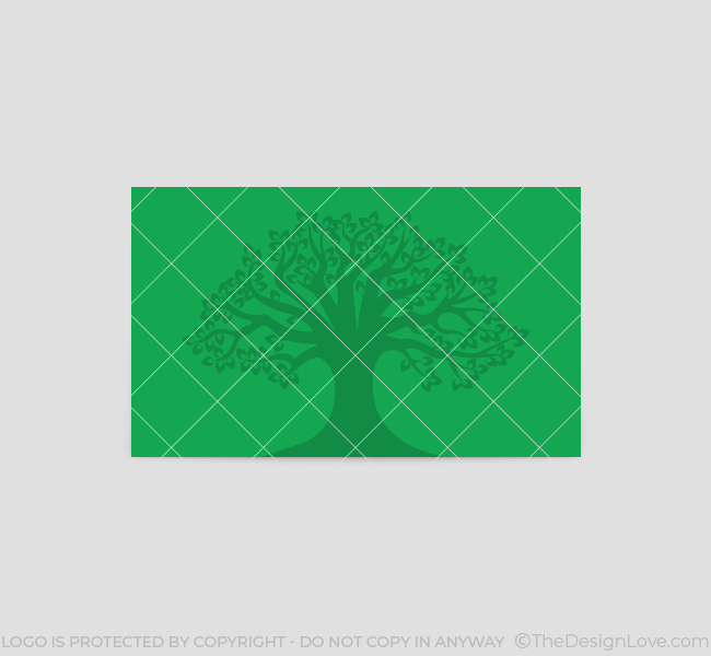 Tree logo business card template the design love tree business card template back colourmoves