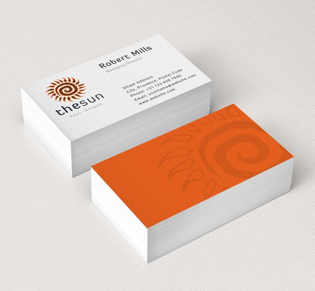 Abstract-Sun-Business-Card-Mockup