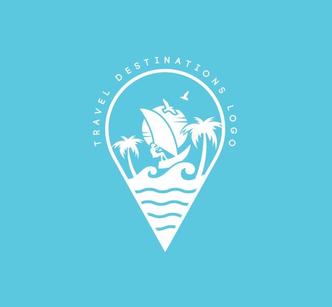 Pre-Designed-Logo-Travel-Logo-White