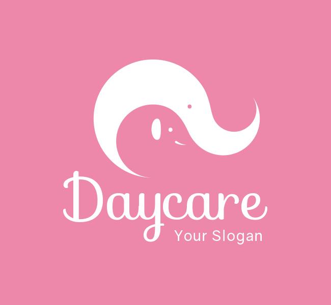 Pre-Designed-Logo-Elephant-Daycare