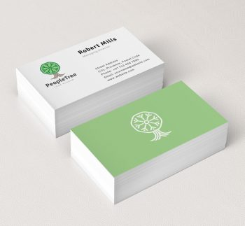 Eco friendly green logos archives the design love people tree business card mockup reheart Images