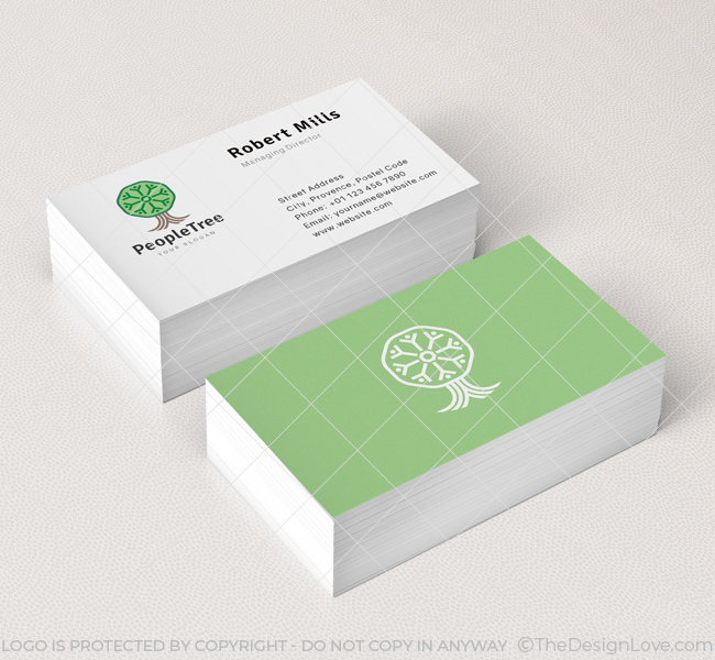 People tree logo business card template the design love people tree business card mockup colourmoves