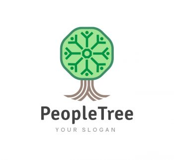 People Tree Logo & Business Card Template