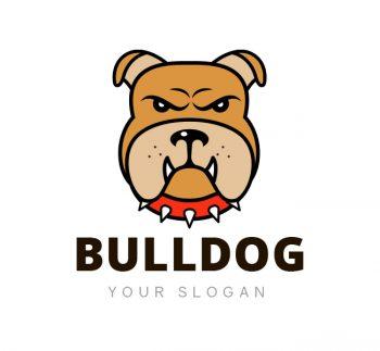 Bulldog Logo & Business Card Template