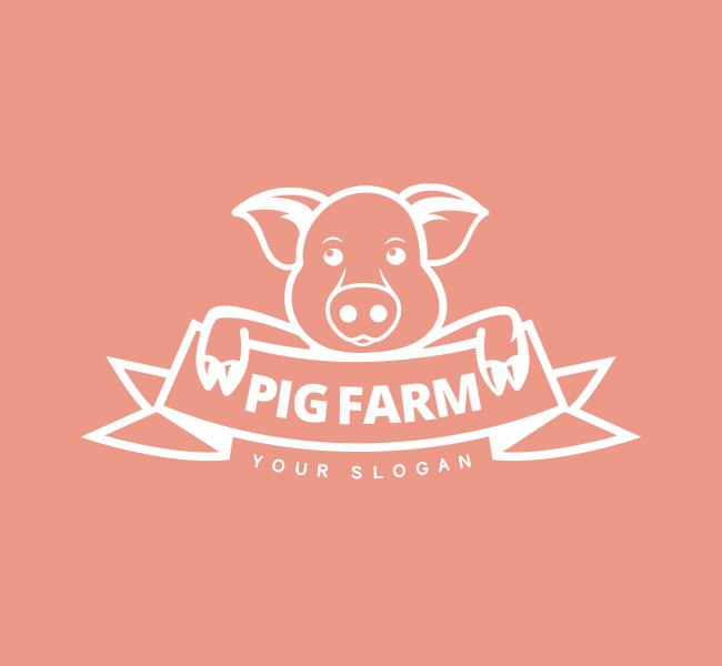 Pig-Farm-Pre-Designed-Logo