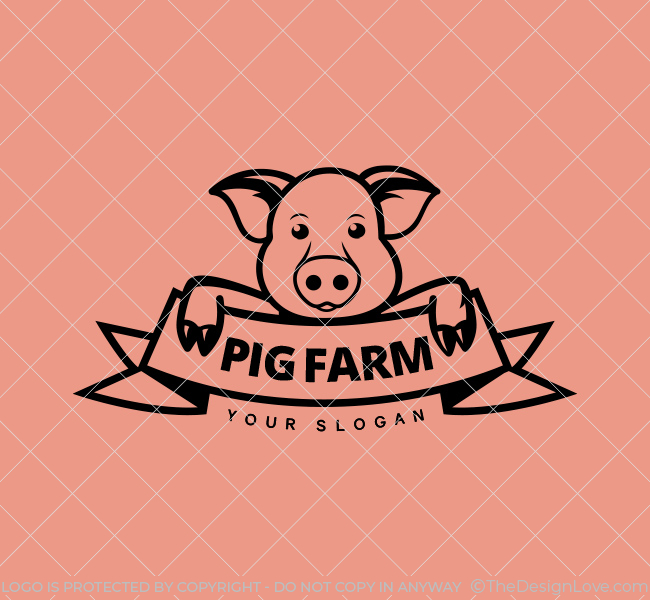 Pig-Farm-Stock-Logo
