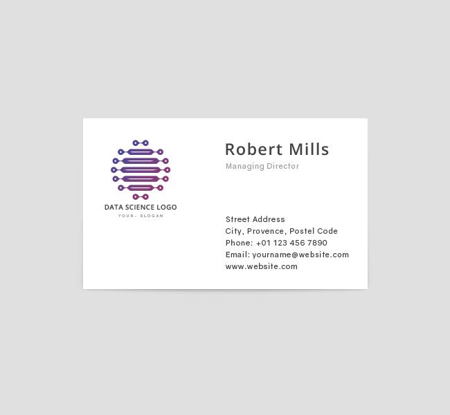 Data science logo business card template the design love data science business card template front colourmoves