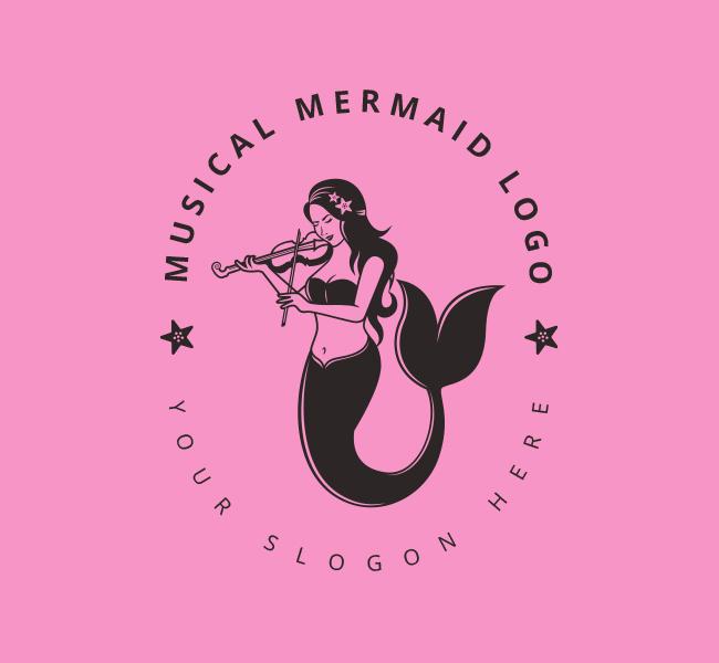 Music-Mermaid-Stock-Logo