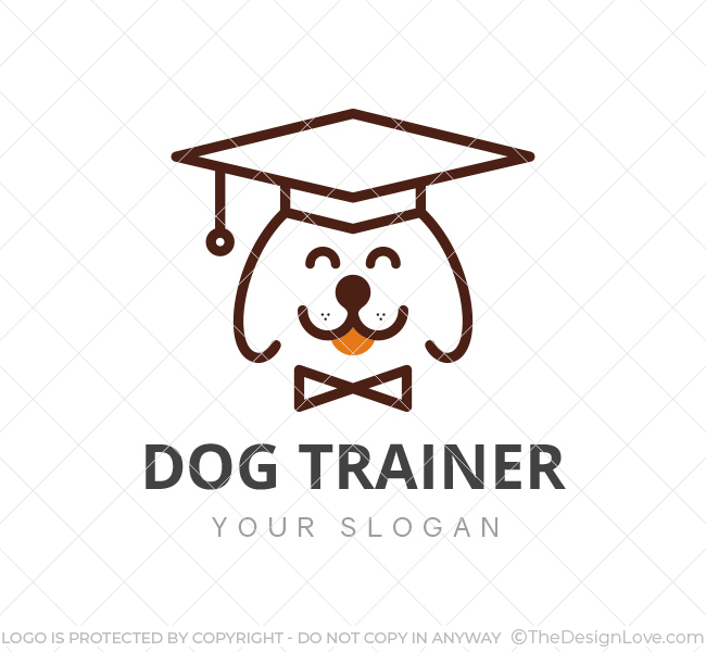Relatively Dog Trainer Logo & Business Card Template - The Design Love GK49