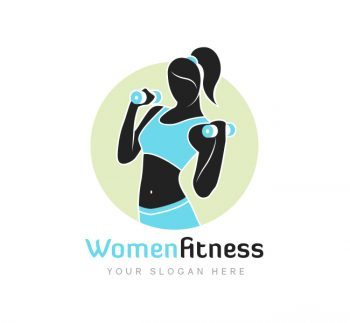 Women Fitness Logo Business Card Template