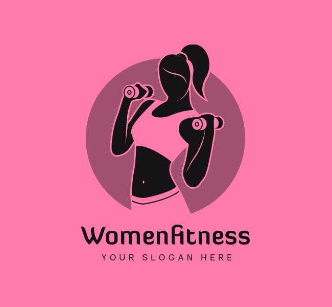 Women-Fitness-Stock-Logo