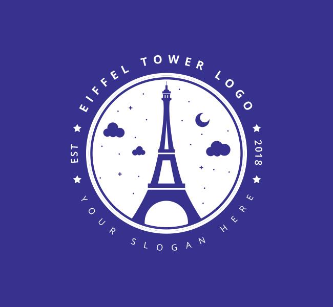 Eiffel-Tower-Pre-Designed-Logo