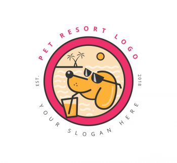 Pet Resort Logo & Business Card Template