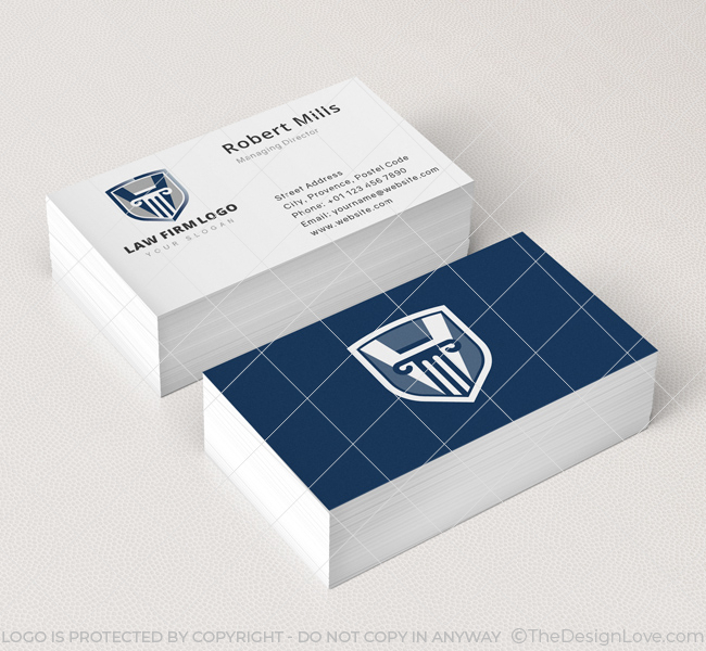Law firm logo business card template the design love law firm business card mockup colourmoves