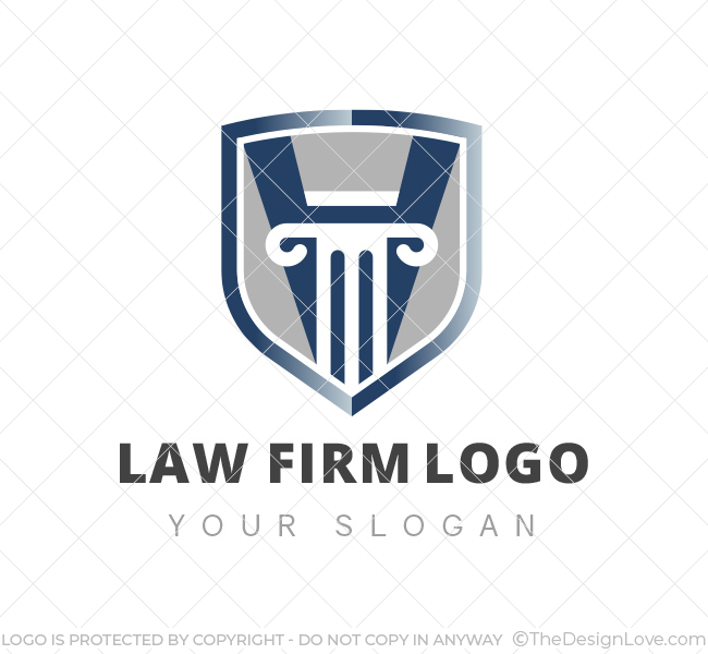 Law Firm Logo & Business Card Template - The Design Love