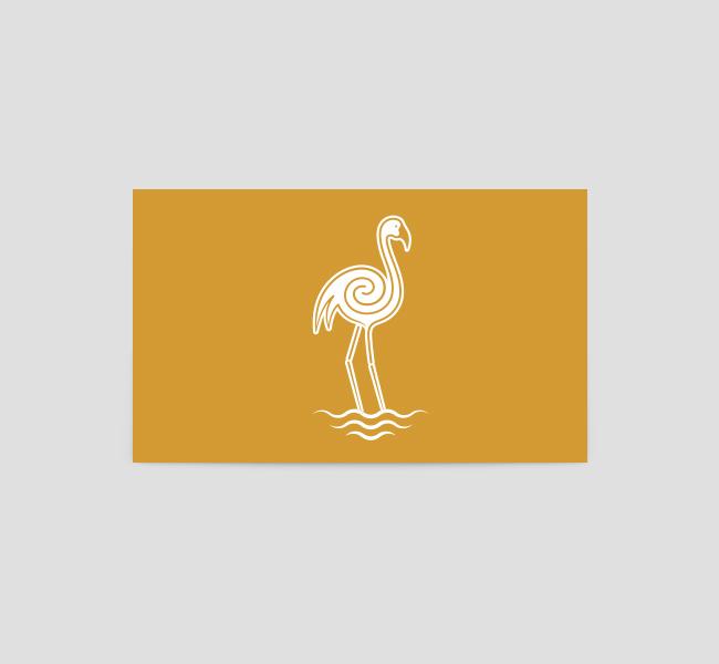 Golden-Flamingo-Business-Card-Template-Back