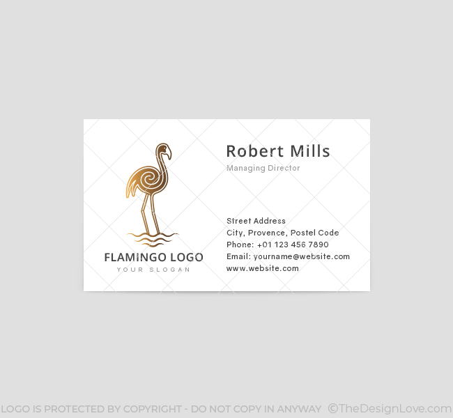 Golden-Flamingo-Business-Card-Template-Front