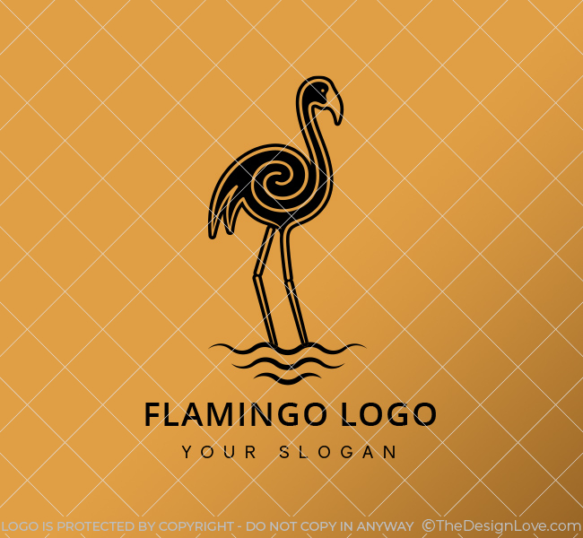 Golden-Flamingo-Stock-Logo