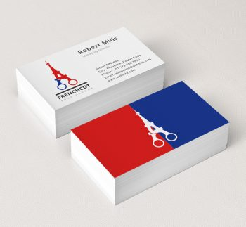 Retail shop logos archives the design love french cut logo business card template reheart Image collections