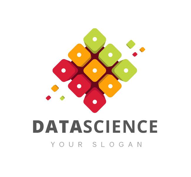 rubix cube data science logo business card the design love