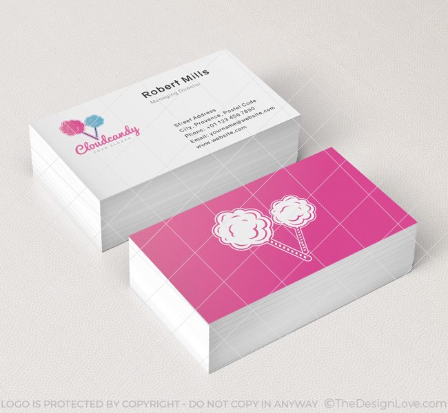 Cloud Candy Logo Business Card Template The Design Love