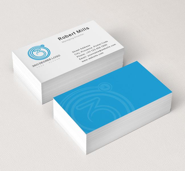 360 degree logo business card template 360 degree logo business card template reheart Choice Image