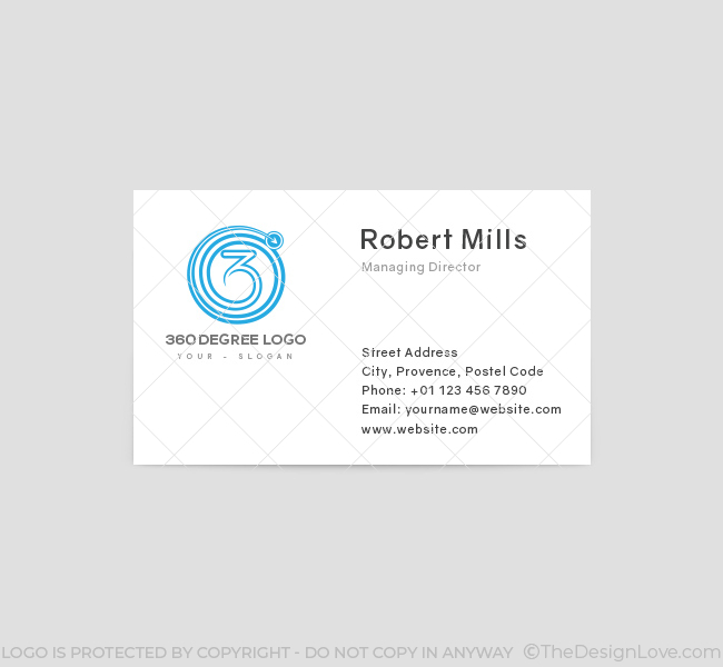 360 degree logo business card template 360 degree business card template front reheart Choice Image