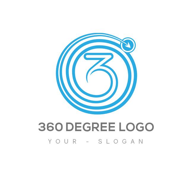 360 degree logo business card template 360 degree logo 360 degree business card template front reheart Choice Image