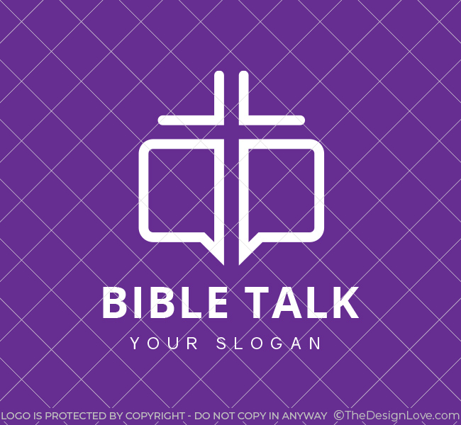 Bible-Talk-Pre-Designed-Logo