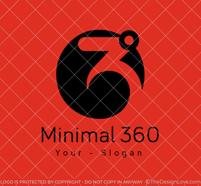 Minimal-360-Lab-Stock-Logo