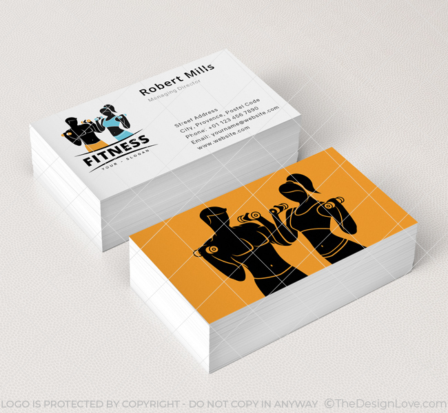 Fitness gym logo business card template the design love fitness gym logo business card template cheaphphosting Image collections