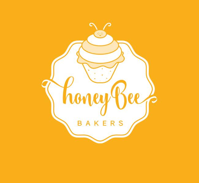Honey-Bee-Bakery-Pre-Designed-Logo