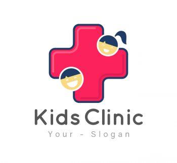 Kids Clinic Logo & Business Card Template