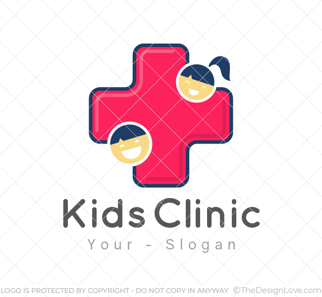 kids clinic logo business card template the design love