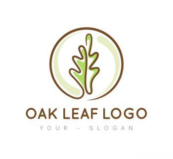 Oak Leaf Logo & Business Card Template