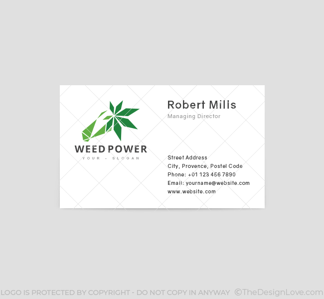 Weed-Power-Business-Card-Template-Front