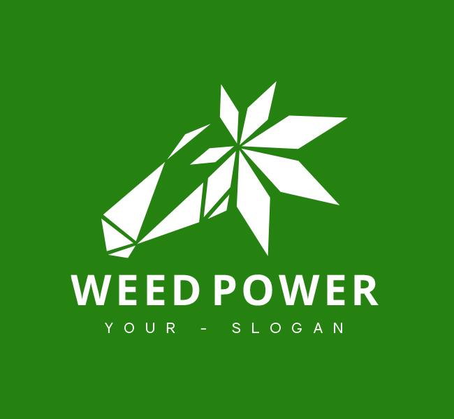 Weed-Power-Pre-Designed-Logo