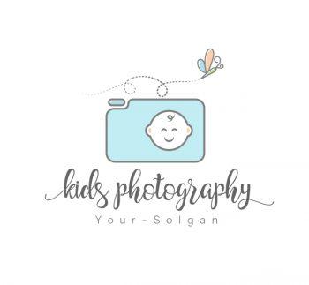 Kids Photography Logo & Business Card Template
