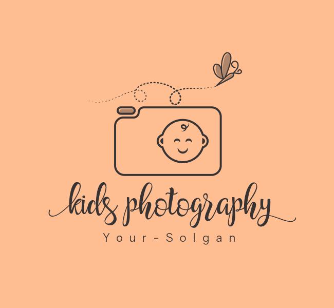 Kids-Photography-Stock-Logo